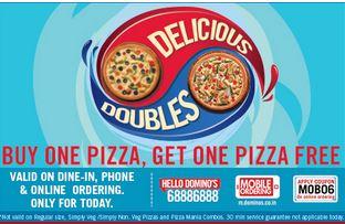 Dominos online buy 1 get 1