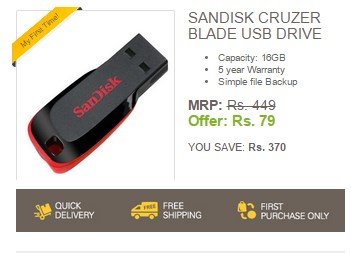 GET 16GB Pendrive For Just Rs.79