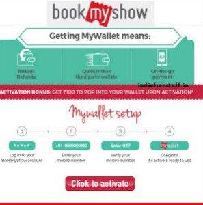 Bookmyshow 150 wallet free money