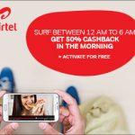 Airtel Night Cashback Offer