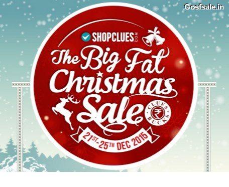 Shopclues The Big Fat Christmas Sale 21st - 25th December - Shopclues