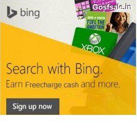 Bing Freecharge Offer : Bing Rewards : Freecharge FreeFund