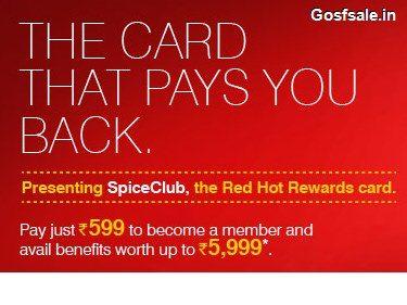 SpiceJet SpiceClub Rs. 599