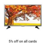 Extra 5% off on Televisions : 15th August offers on Tv's - Independence Day Offer on LED TV 2016