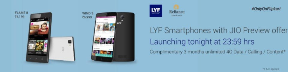 Lyf Smartphone Flipkart : Launching Lyf Smartphones on Flipkart With Free Jio Preview Offer