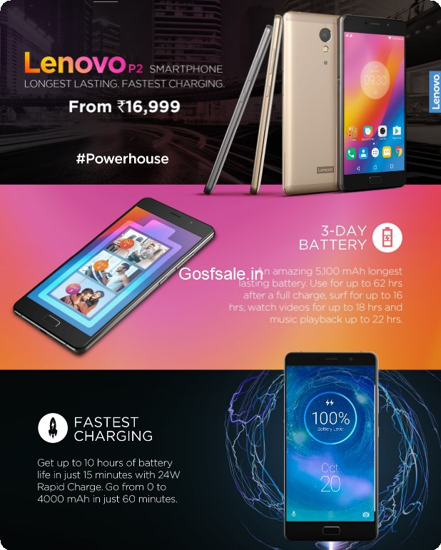 Lenovo P2 Price in India : About Lenovo P2