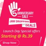 Punch Panch Ka Jaw Dropping Deals on Shopclues 5th Anniversary Sale