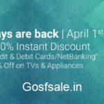 FlipKart Pay Days - Upto 50% off on TVs, Appliances & Electronics.