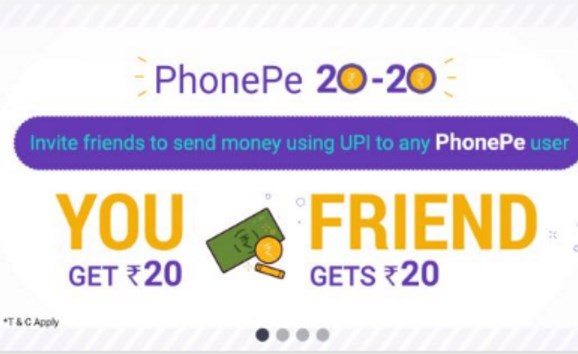 PhonePe Referral Code - PhonePe Refer and Earn - Rs.20 Signup Bonus & Rs.20 Per Refer