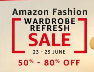Amazon Fashion Wardrobe Refresh Sale - 23 to 25 June ( Best Deals )