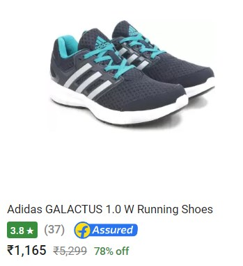 Deal of the Day : Upto 80% off on Adidas Shoes - Flipkart