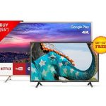 Amazon Blockbuster Offer - TCL 139.7 cm (55 inches) L55P2MUS Android M 4K UHD LED Smart TV (Gold) + FREE TCL 81.28 cm (32 inches) L32D2900 HD Ready LED TV @ Rs.59,990