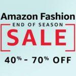 Amazon Fashion End of Season Sale : Upto 80% off on Fashion