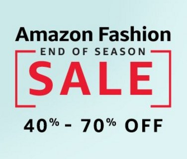 Amazon Fashion End of Season Sale : Upto 80% off on Fashion