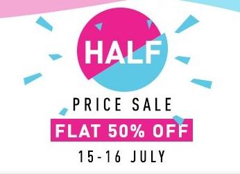 Amazon Fashion Half Price Sale + 15% Cashback on Rs. 800