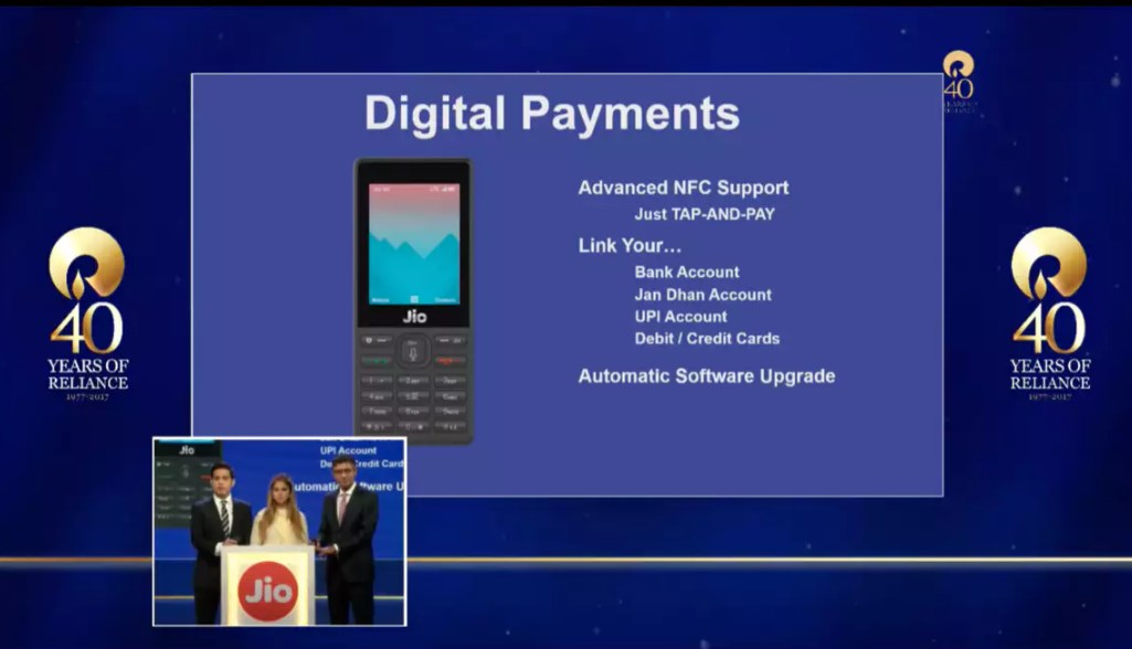 Jio Phone Digital Payment Features