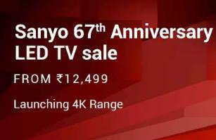 Sanyo 67th Anniversary TV Sale Starting Rs.12499 - Flipkart Big Shopping Days