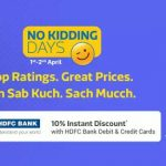 FlipKart No Kidding Days - 1st April Best Offers