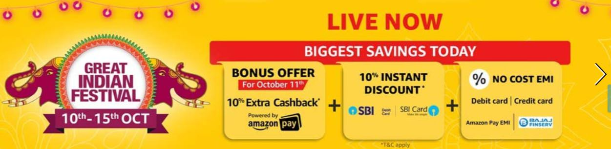 Great Indian Festival Sale Live
