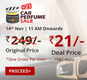 Droom Car Perfume @ Rs.21 - 14th November Sale