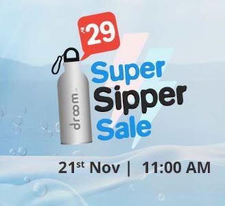 Droom Sipper Bottle Sale - Droom Sipper Bottle 750ml Rs. 29 – Droom 21st Nov Sale
