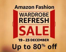 Amazon Fashion Wardrobe Refresh Sale : 19 - 23 December