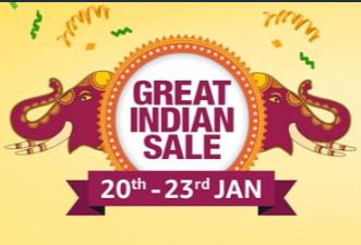 Amazon Great Indian Sale 2019 | 20 - 23 Jan 2019 : ( Starts 19th Jan - 12 PM For Prime Members )