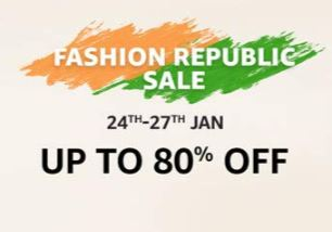 Amazon Republic Day Sale : Amazon Fashion Republic Sale 2019