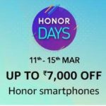 Amazon Honor Days - Upto Rs. 7000 off on Honor smartphones