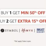 Fashion 50% off or more + Buy 2 Get 10% off or Buy 3 Get 15% off – Amazon