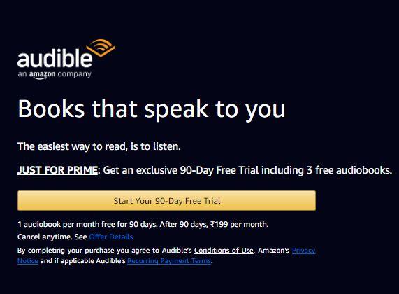 Amazon Audible Free Trail - Amazon