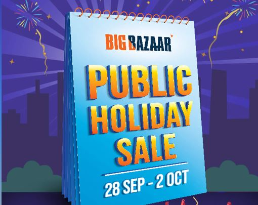 Big Bazaar Public Holiday Sale 28th Sep to 2nd Oct