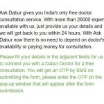 Ask Dabur - Get Free Doctor Consultation | Just ask Dabur Free Doctor Consultation