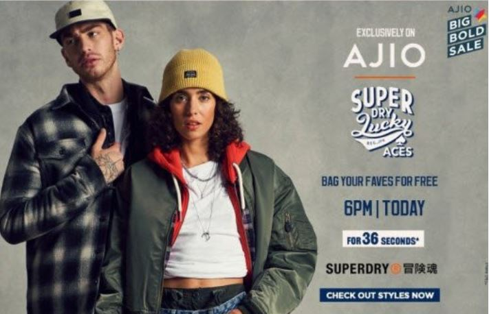[Live @ 6PM] SuperDry Clothing at Rs. 1 for 36 Second