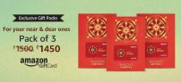 Amazon Gift Cards 4% off from Rs. 1200 – Amazon
