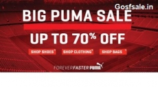 Puma Clothing, Footwear & Accessories 50% off or more from Rs. 219 – Amazon