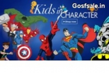 Kids Characters Clothing 65% off from Rs. 157 – Amazon