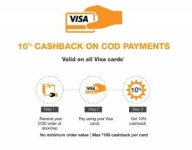 Amazon 10% Cashback on COD Orders [Visa Cards on Cash on Delivery]