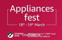 Amazon Appliances Fest – ACs, Refrigerators & Washing Machines upto 35% off + Free Rs. 500 or Rs. 1000 Amazon Pay Balance