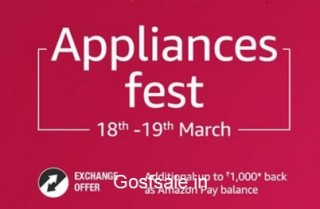Amazon Appliances Fest – ACs, Refrigerators & Washing Machines upto 35% off + Free Rs. 500 or Rs. 1000 Amazon Pay Balance