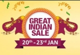 Amazon Great Indian Sale 2019 |  20 – 23 Jan 2019 : ( Starts 19th Jan – 12 PM For Prime Members )