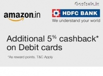 Amazon HDFC 5% Cashback Offer – Amazon 5% Cashback on Purchase of Rs. 5000