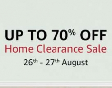 Amazon Home Clearance Sale upto 70% off + 10% Cashback