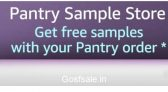Amazon Pantry 3 Free Samples on Purchase of Rs. 500 : Amazon Pantry Offers