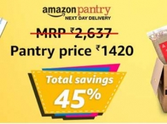 Amazon Pantry upto 50% off + 15% Cashback on Rs. 250 + 10% Cashback on Rs. 1000 or 15% Cashback on Rs. 2000
