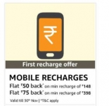 Amazon Recharge Offers – Recharges & Bill Payments upto 30% Cashback