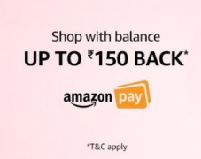 Amazon Rs. 75 Cashback on Rs. 250, Rs. 150 Cashback on Rs. 1000