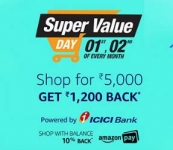 Grocery, Personal Care, Baby Care, Household Supplies, Pet Supplies upto 50% off + Free upto Rs. 1200 Amazon Pay Balance – Amazon Super Value Day