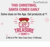 Amazon Treasure Hunt Ans 23 December – Amazon App Treasure Hunt Clue Answers