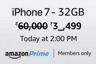 Apple iPhone 7 32 GB Rs. 39499 – Amazon (Live at 2PM) – Lowest Price Ever on Apple iPhone